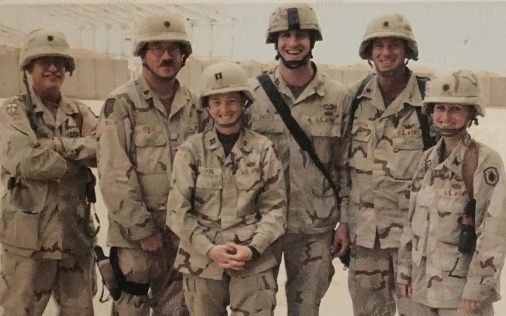 LTC Truhan(far left) with training team