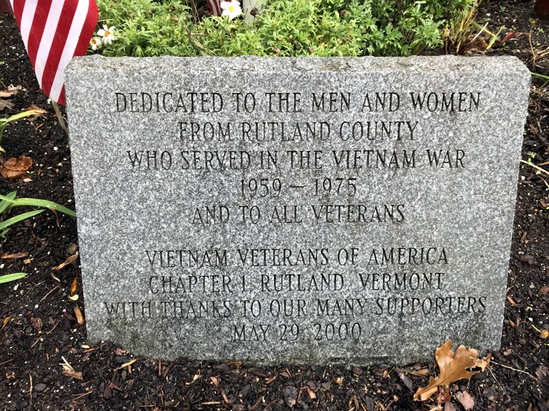 This stone was placed at the base of the flagpole in 2000